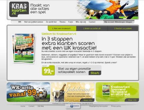 kraskaarten.nl screenshot
