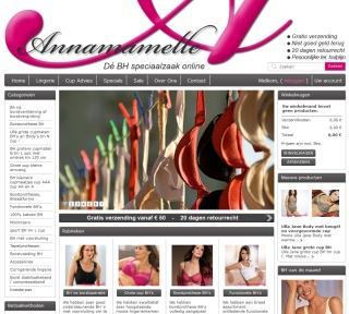 screenshot webshop annamamelle.nl